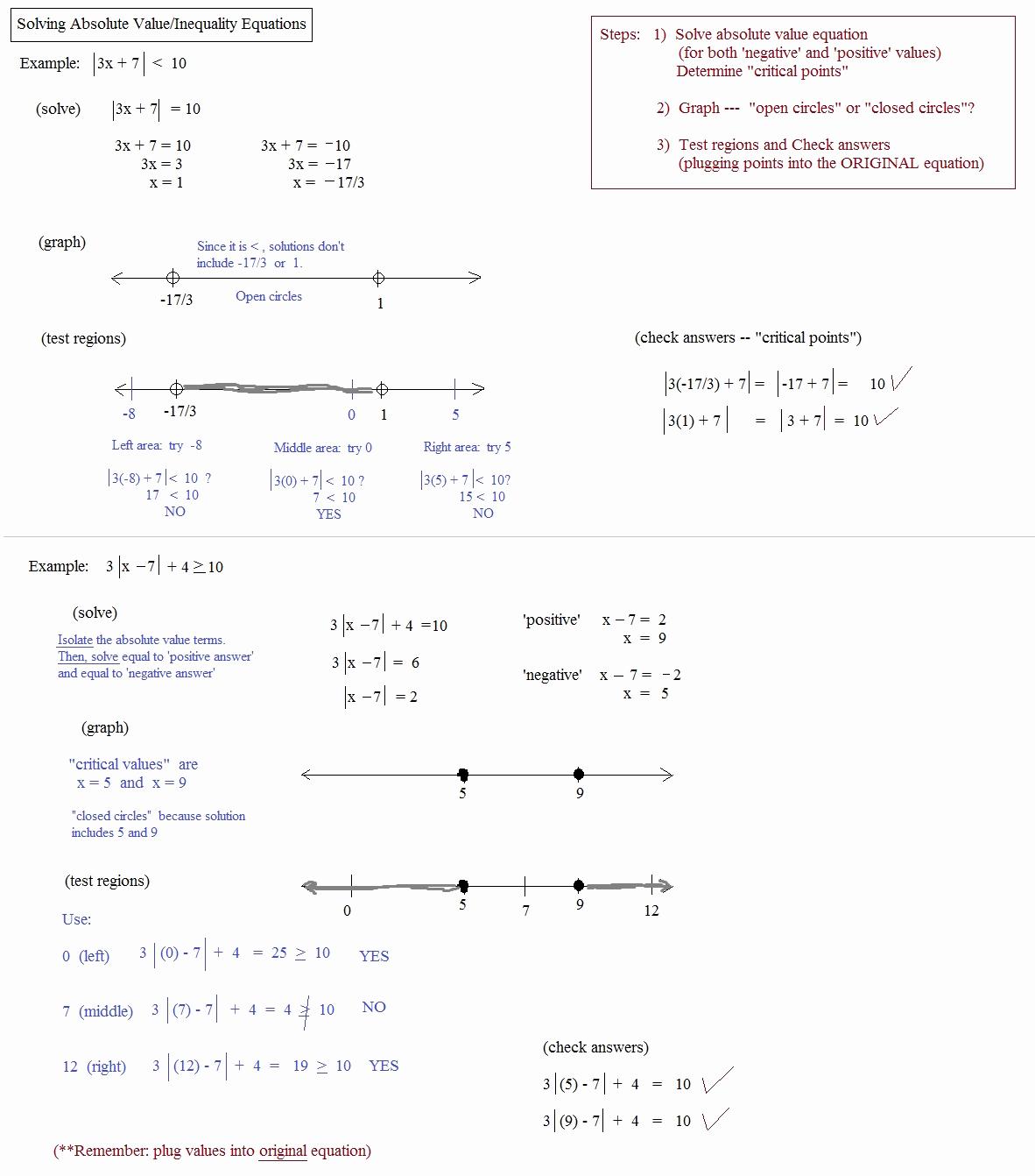 Absolute Value Inequalities Worksheet Answers Best Of Absolute Value Equations Worksheets with Answer Key