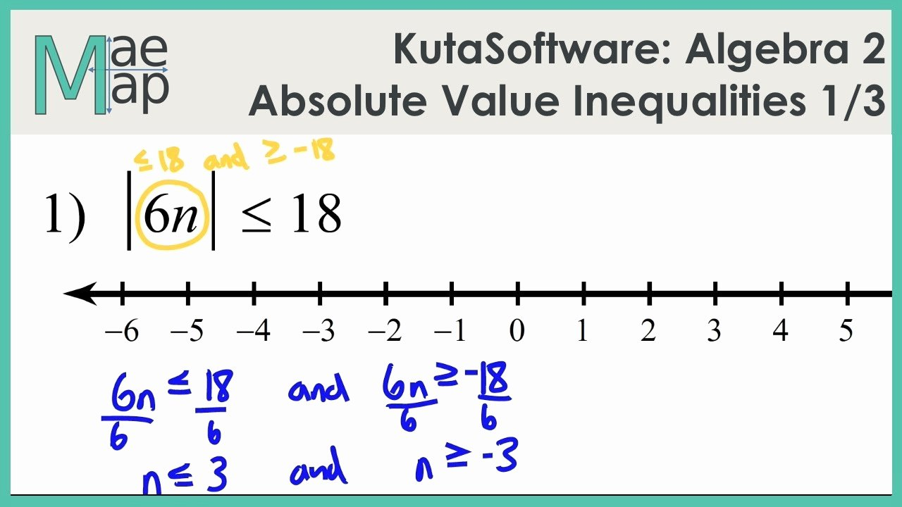 Absolute Value Inequalities Worksheet Answers Luxury Kutasoftware Algebra 2 Absolute Value Inequalities Part