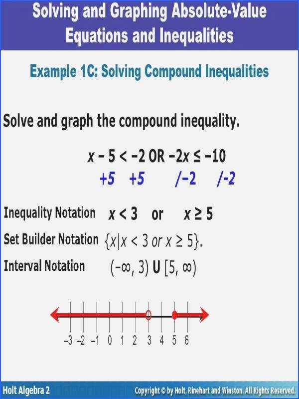 Absolute Value Inequalities Worksheet Answers Unique solving and Graphing Inequalities Worksheet Answer Key
