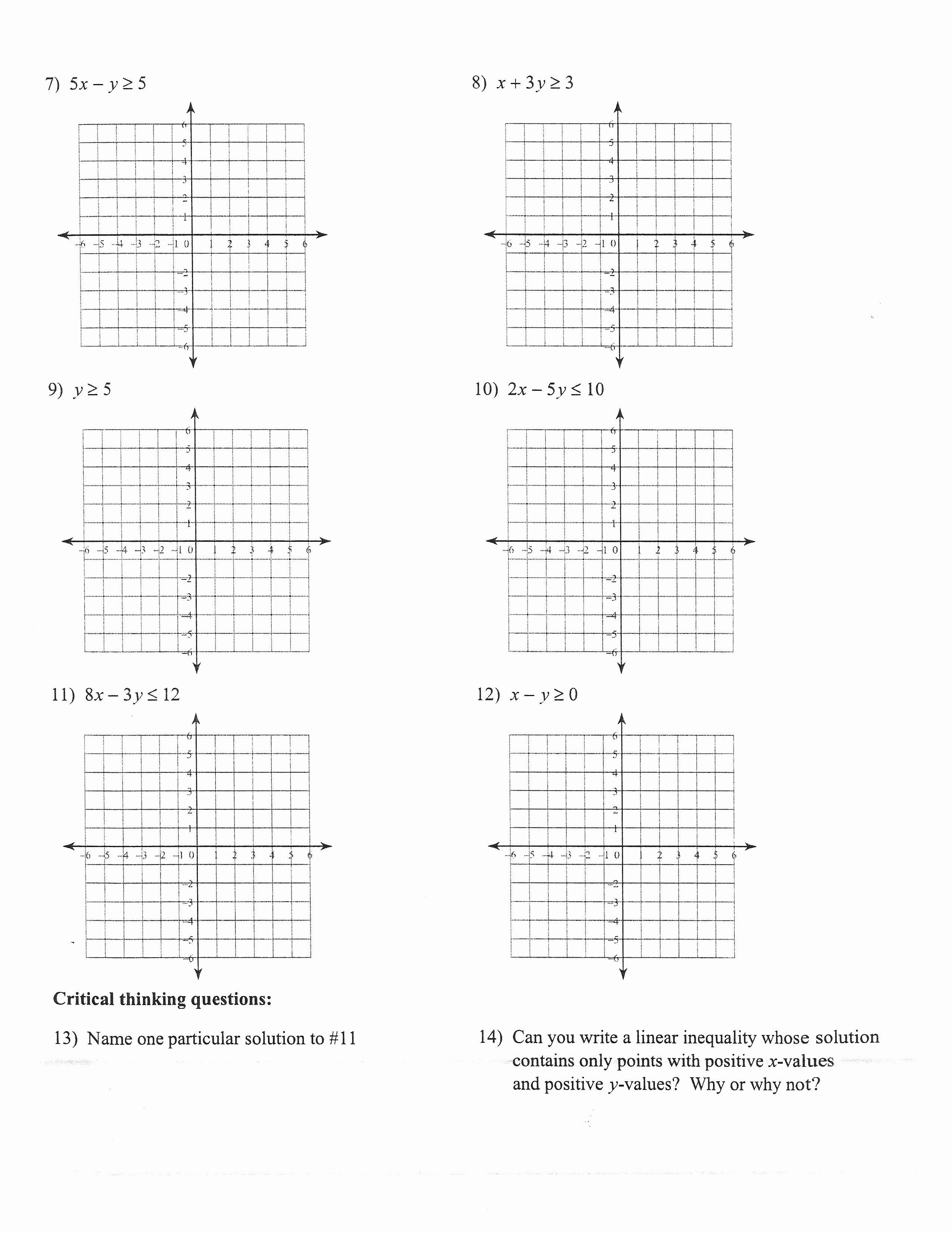 Absolute Value Inequalities Worksheet Beautiful Algebra 2 Absolute Value Inequalities Worksheet the Best