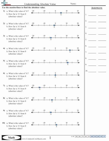 Absolute Value Worksheet Pdf Awesome Negative Number Worksheets