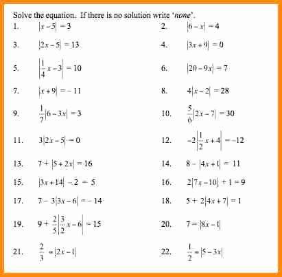 Absolute Value Worksheet Pdf Beautiful Integers and Absolute Value Worksheet Answers the Best