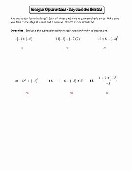 Absolute Value Worksheet Pdf Fresh Absolute Value and Integers Review Worksheet by Pre