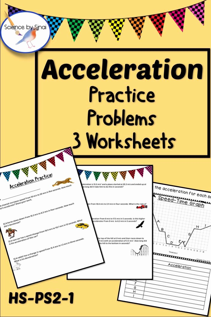 Acceleration Practice Problems Worksheet Inspirational Acceleration formula Practice Problems Review 3 Worksheets