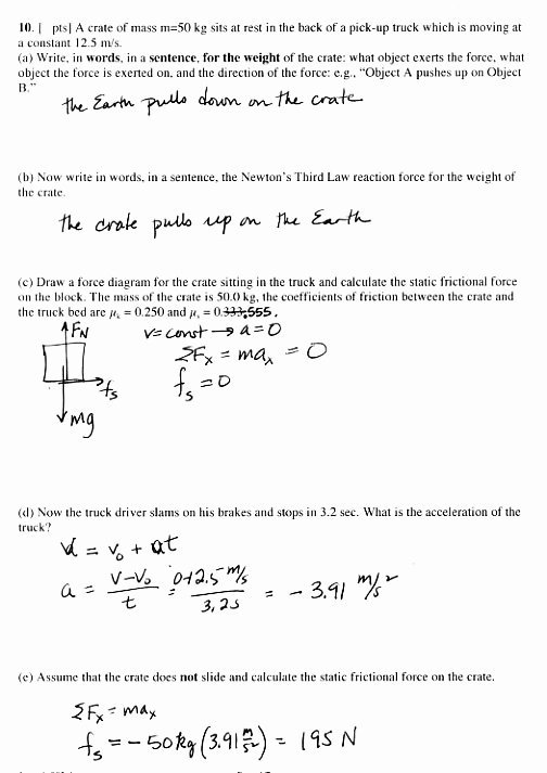 Acceleration Practice Problems Worksheet Inspirational Final Exam Info