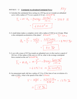 Acceleration Worksheet with Answers Lovely Worksheet 5 1 – Centripetal force and Centripetal