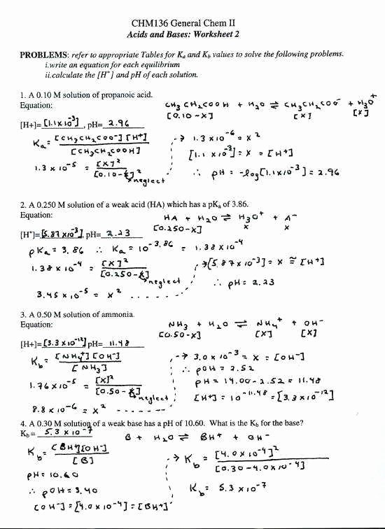 Acid and Bases Worksheet Answers Awesome Acids and Bases Worksheet Answers