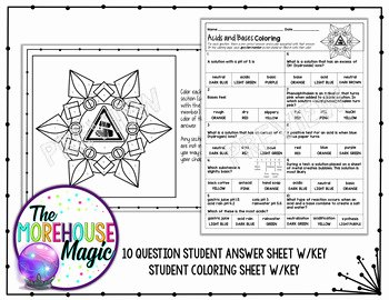 Acid and Bases Worksheet Answers Fresh Acids and Bases Science Color by Number Quiz by the