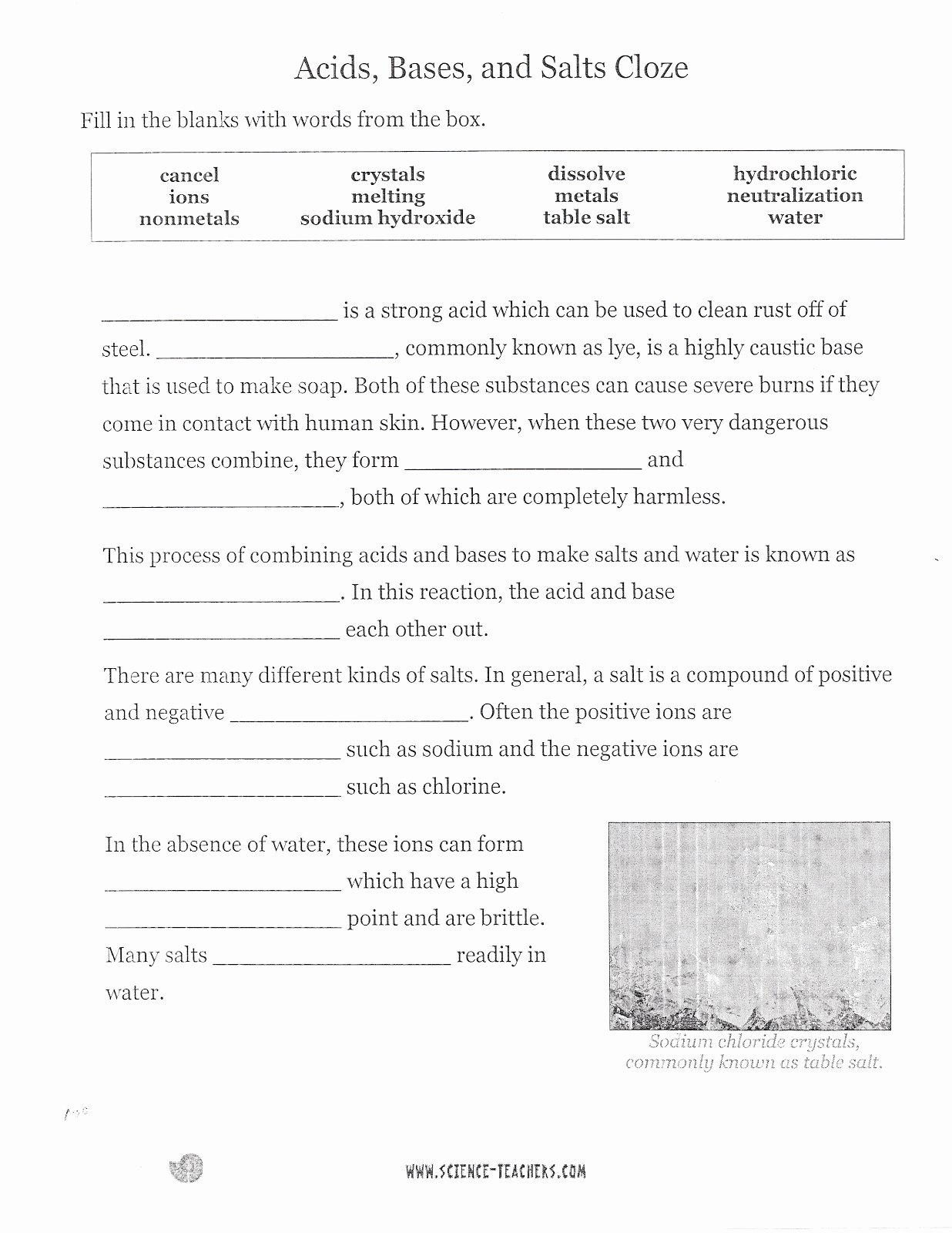 Acid and Bases Worksheet Answers New Dr Gayden S Eighth Grade Science Class November 2012