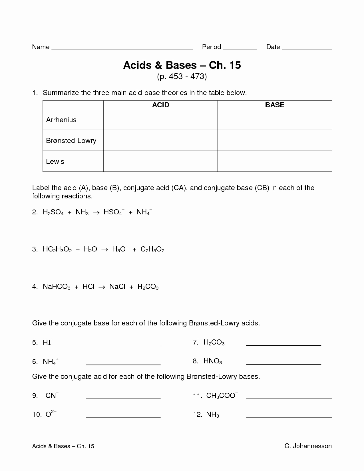 Acid and Bases Worksheet Answers New Worksheet Acids and Bases Worksheets Worksheet Fun