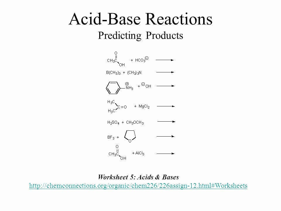 Acid Base Reaction Worksheet Inspirational Acid and Bases Worksheet