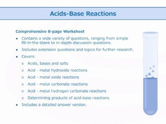Acid Base Reaction Worksheet New Acids and Bases [worksheet Bundle] by