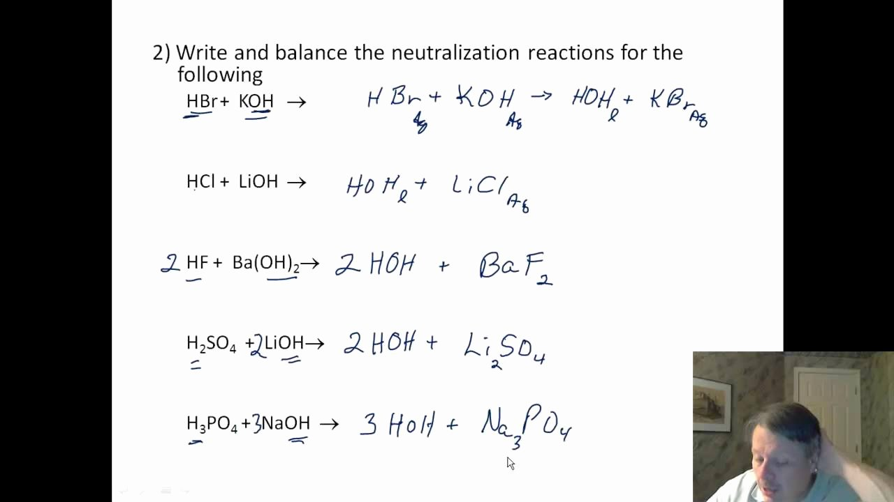 Acid Base Reaction Worksheet Unique Acids 04 Worksheet Neutralization Reactions