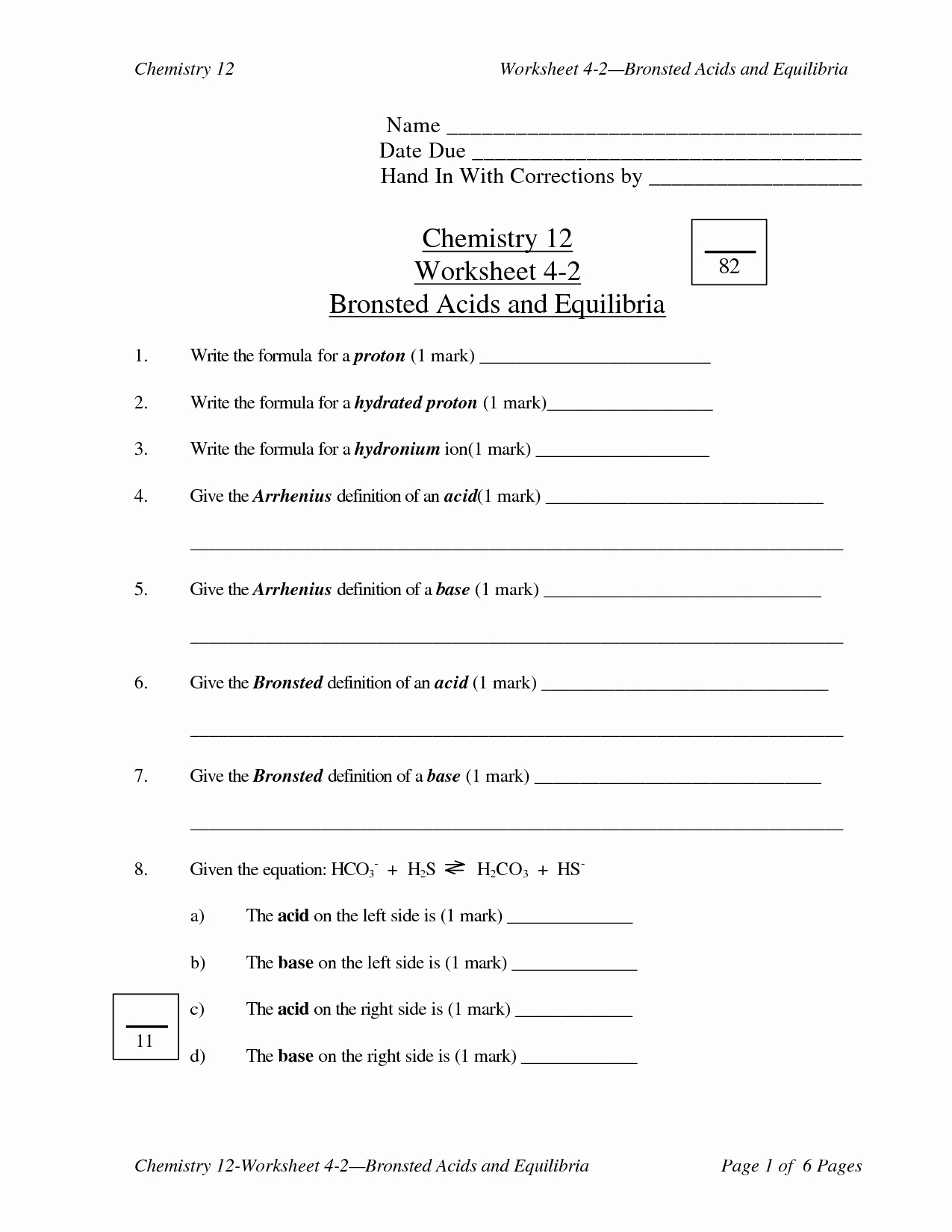 Acids and Bases Worksheet Answers Inspirational 12 Best Of Acid Rain and Ph Worksheet Answers