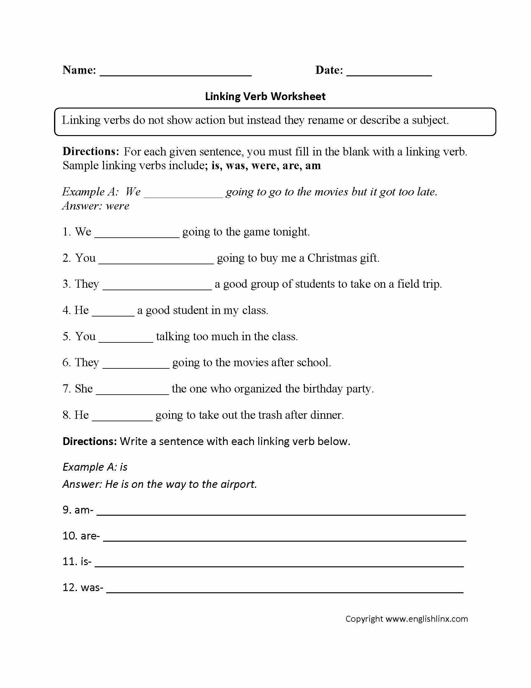 Action and Linking Verbs Worksheet Best Of Parts Speech Worksheets