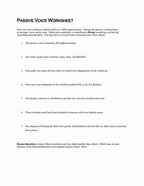 Active Passive Voice Worksheet Awesome Language 8th Grade Ela Mon Core Collection
