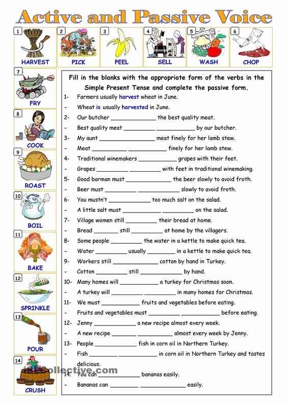 Active Passive Voice Worksheet Awesome Passive Voice … Education Pinterest