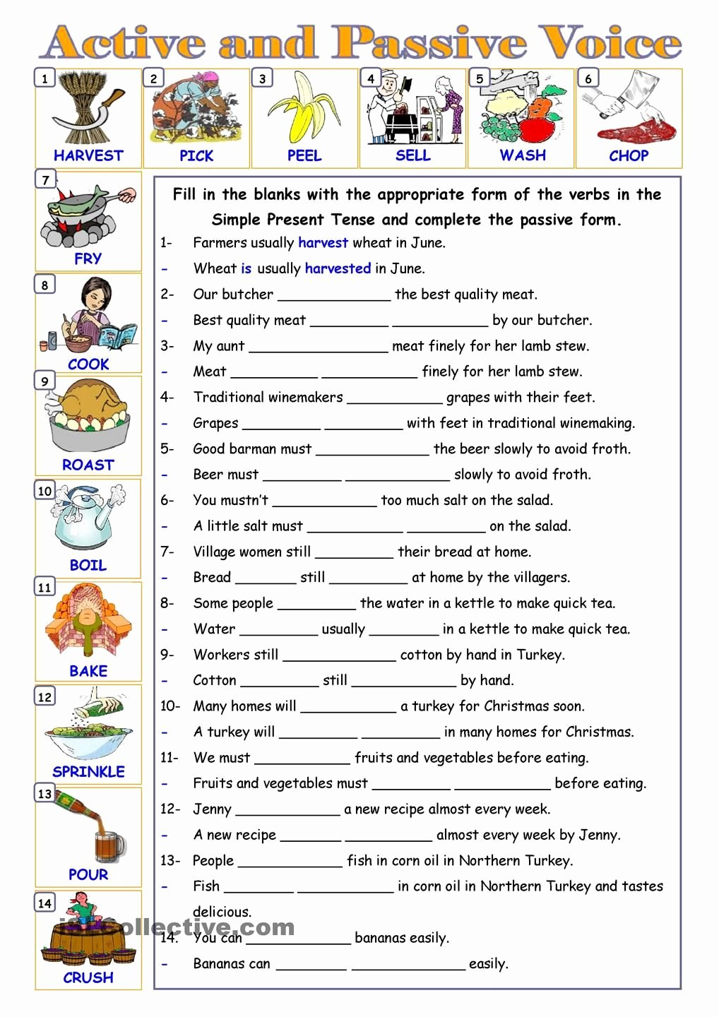 Active Passive Voice Worksheet New Passive Voice … Education Pinterest