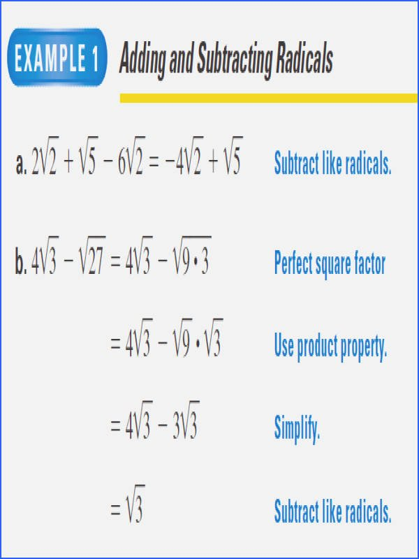 Adding and Subtracting Radicals Worksheet Best Of Adding and Subtracting Radicals Worksheet