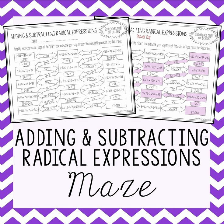 Adding and Subtracting Radicals Worksheet Lovely Best 20 Radical Expressions Ideas On Pinterest