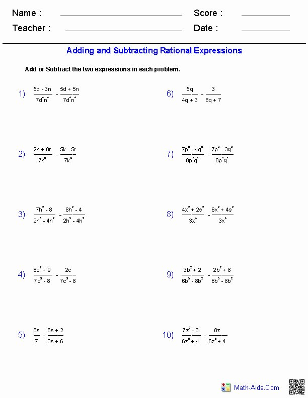Adding and Subtracting Radicals Worksheet Luxury Adding and Subtracting Radicals Worksheet