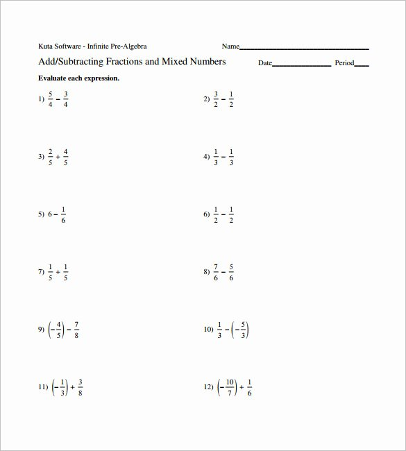 Adding Fractions Worksheet Pdf Awesome 15 Adding and Subtracting Fractions Worksheets – Free Pdf
