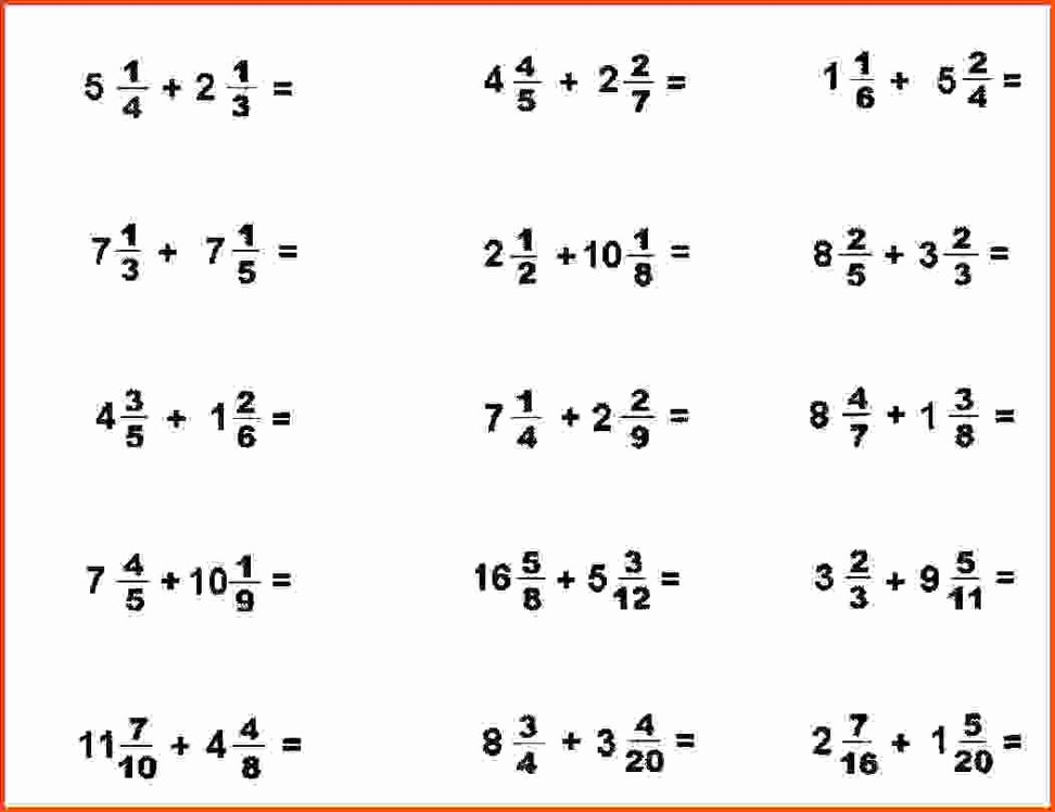 Adding Fractions Worksheet Pdf Beautiful Adding Fractions Worksheet with Answers Picture Worksheet