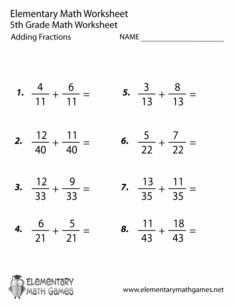 Adding Fractions Worksheet Pdf Luxury Fifth Grade Adding Fractions Worksheet