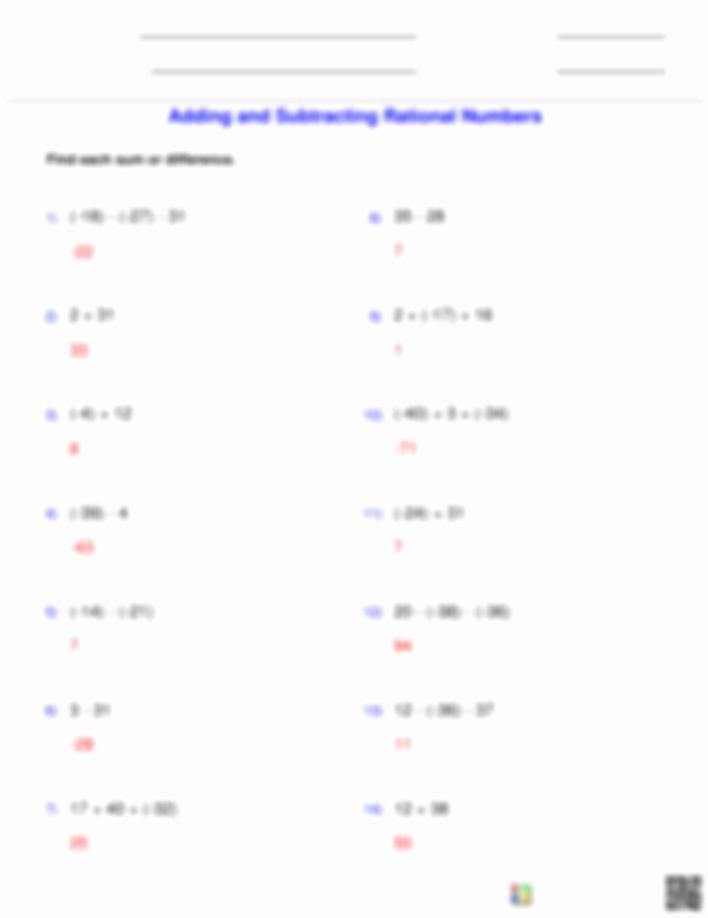 Adding Integers Worksheet Pdf New Integers Adding and Subtracting Rational Numbers