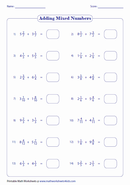 Adding Mixed Numbers Worksheet Luxury Adding Fractions Worksheets