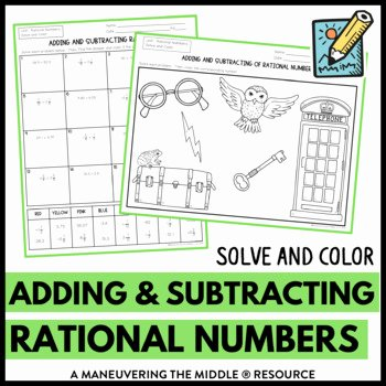 Adding Rational Numbers Worksheet Fresh Adding and Subtracting Rational Numbers by Maneuvering the