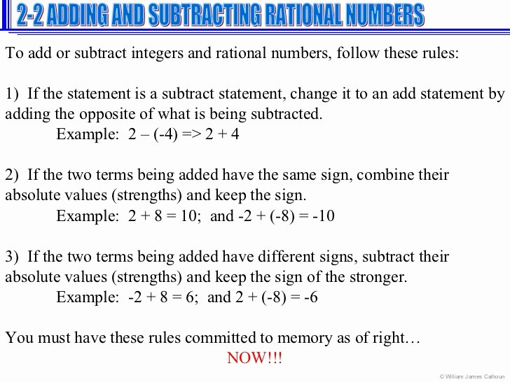 Adding Rational Numbers Worksheet New Add Subtract Rational Numbers Unit 1 Number Sense Adding