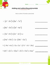 Adding Subtracting Polynomials Worksheet Awesome Factoring Polynomials Worksheets with Answers and Operations