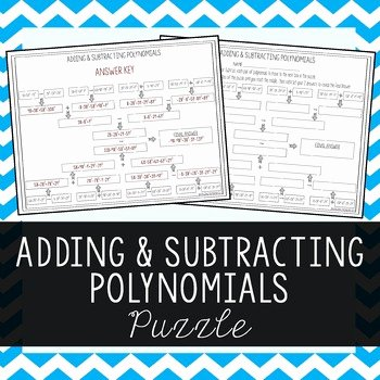 Adding Subtracting Polynomials Worksheet Elegant Adding & Subtracting Polynomials by Amazing Mathematics