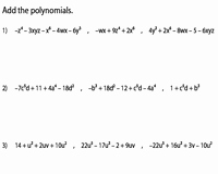 Adding Subtracting Polynomials Worksheet Elegant Adding Polynomials Worksheets