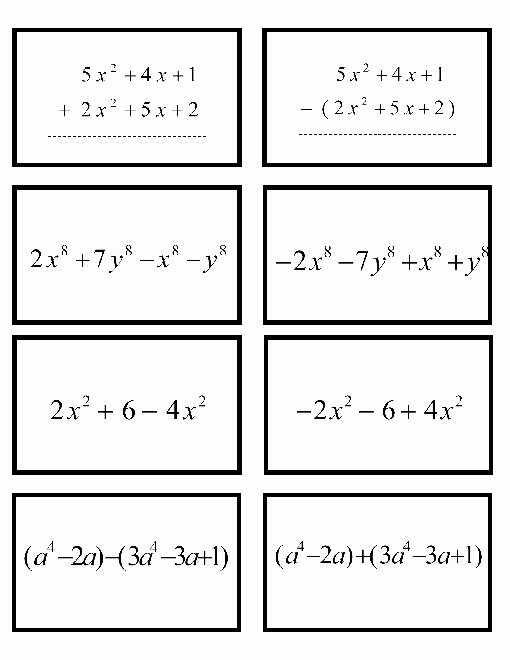 Adding Subtracting Polynomials Worksheet Lovely 10 Best Of Adding Polynomials Worksheet with