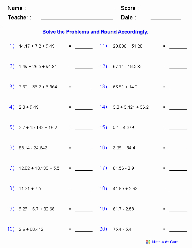 Adding Subtracting Scientific Notation Worksheet Beautiful Significant Figures Worksheets