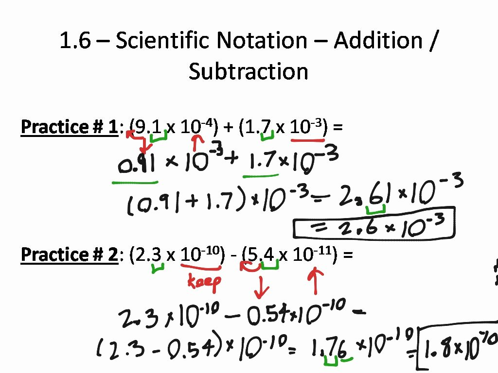 Adding Subtracting Scientific Notation Worksheet New Worksheet Operations with Scientific Notation Grass