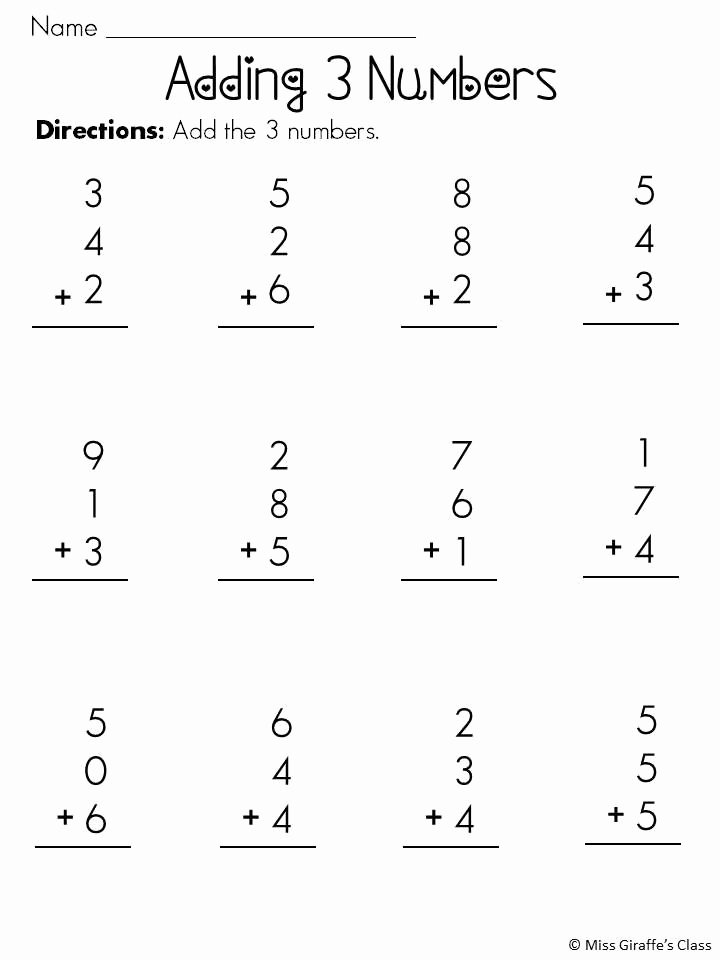 Adding Three Numbers Worksheet Best Of Adding 3 Numbers Activities and Worksheets Mega Pack