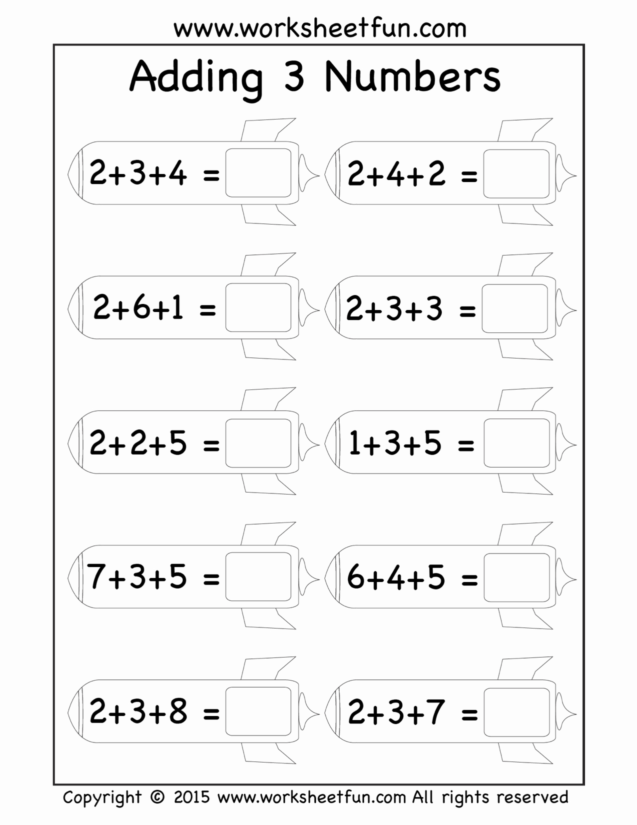 Adding Three Numbers Worksheet Elegant Free Three Addend Worksheets Adding 3 Numbers Rockets