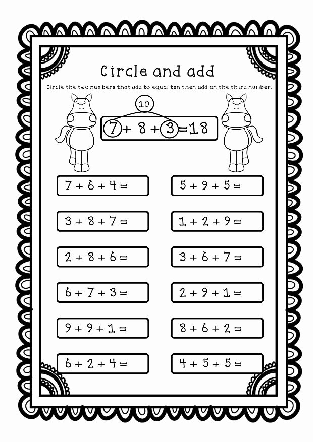 Adding Three Numbers Worksheet Luxury Adding Three Numbers Add 3 Numbers Worksheets