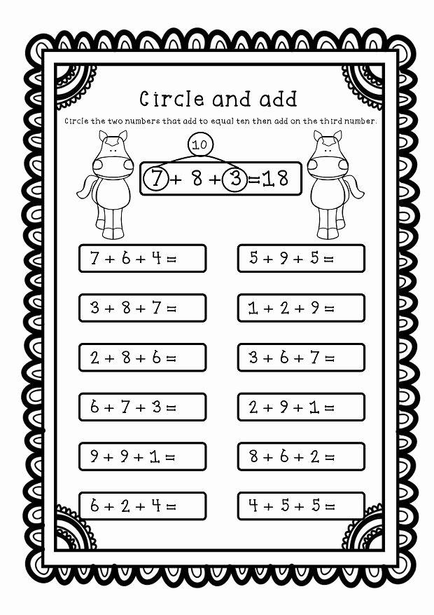 Adding Three Numbers Worksheet Luxury Adding Three Numbers Add 3 Numbers Worksheets