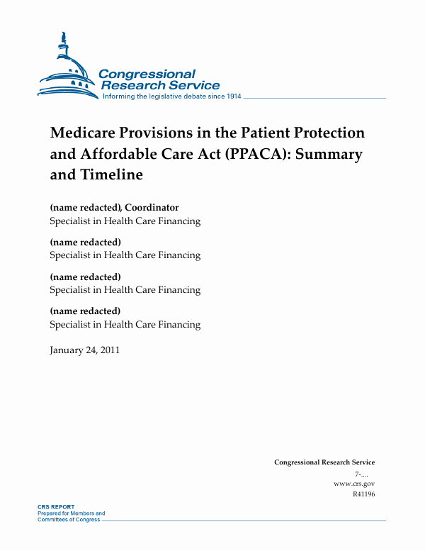 Affordable Care Act Worksheet Best Of Medicare Provisions In the Patient Protection and