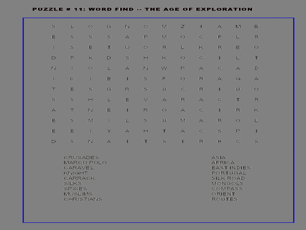 Age Of Exploration Worksheet Fresh the Age Of Exploration Word Search Worksheet for 6th 8th