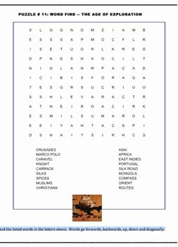 Age Of Exploration Worksheet Inspirational the Age Of Exploration 10 Poem Worksheets and Puzzle