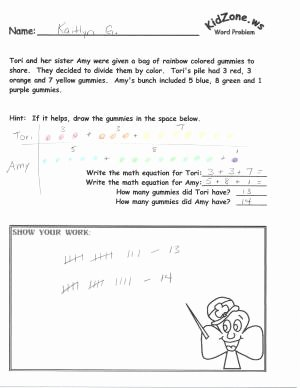 Age Word Problems Worksheet Best Of Kidzone Math Word Problems