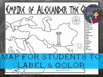 Alexander the Great Worksheet Best Of Empire Of Alexander the Great Map Activity by History Gal