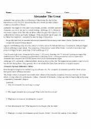 Alexander the Great Worksheet Best Of English Worksheets Alexander the Great Reading
