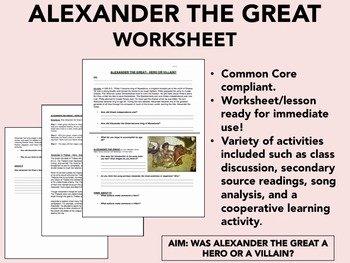 Alexander the Great Worksheet Best Of Epic History Worksheets Teaching Resources