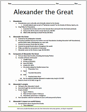 Alexander the Great Worksheet Fresh Printable Outline Macedonia Alexander the Great and